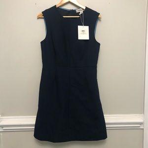 Diane Von Furstenberg NWT navy blue shift dress